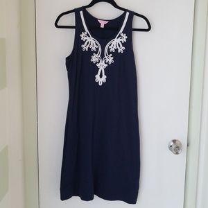 Navy blue Lilly Pulitzer sleveless dress